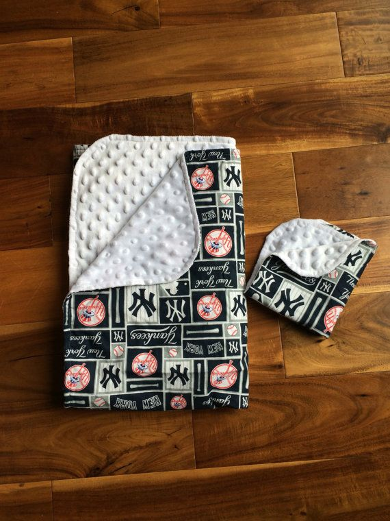 New York Yankees baby blanket and lovey New by JillLeedyDesigns