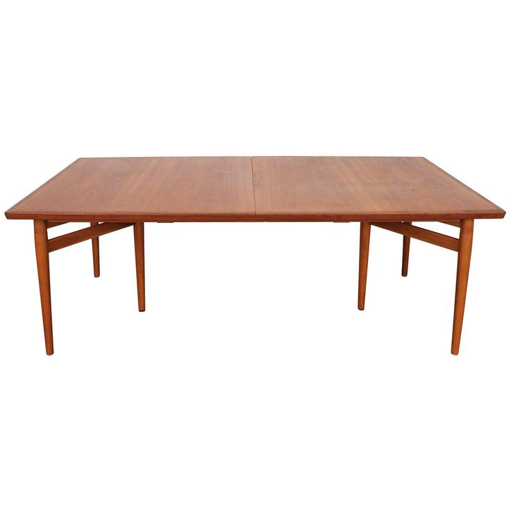Arne Vodder Teak Danish Dining Table Produced by Sibast | 1stdibs.com