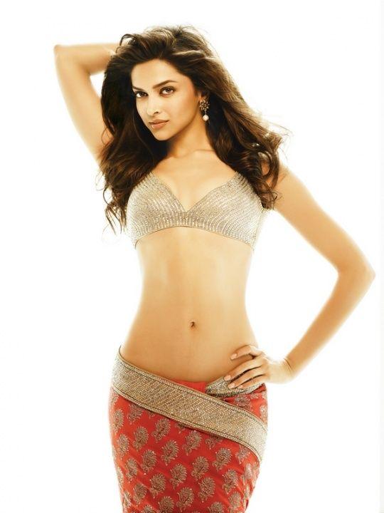 Deepika Padukone flaunts her midriff.