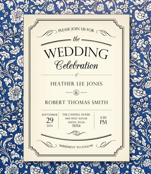 Best Vintage Type Wedding Invitations Images On