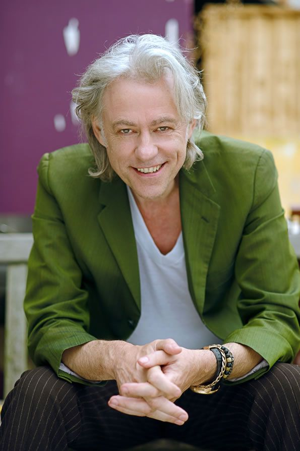 Bob Geldof - Patron of the Microloan Foundation.