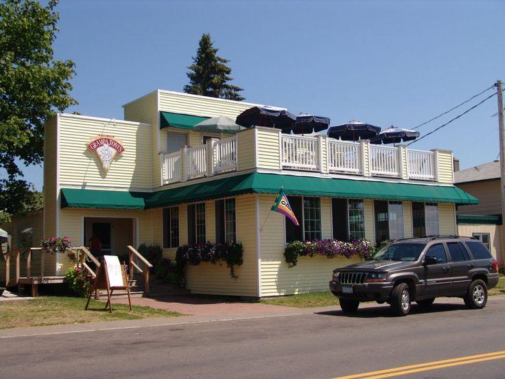 Grampa Tony's on Madeline Island has great hoagies, pizzas, and Wisconsin's Cedar Crest ice cream