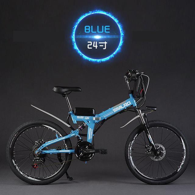 48V 350W Lithium Battery Electric Folding Mountain Bike
