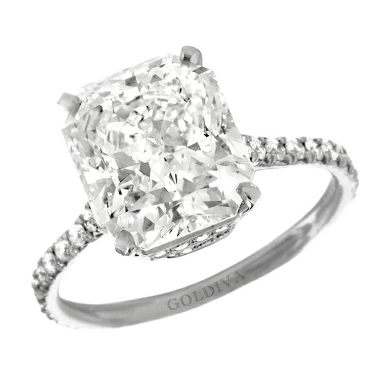 """Marisol"" Radiant Cut Diamond Engagement Ring"