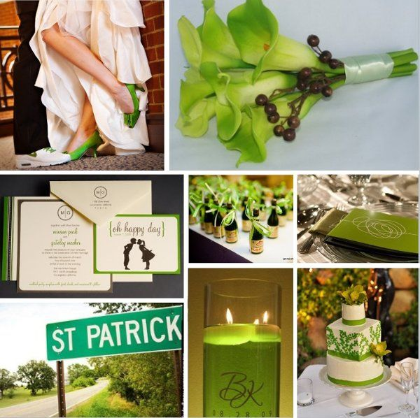 Green Wedding Inspiration Wedding Inspiration Boards Photos on WeddingWire