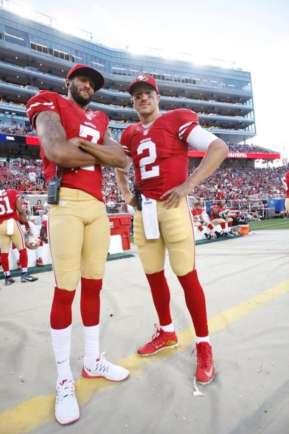 Colin Kaepernick and Blaine Gabbert 49ers Preseason 2015