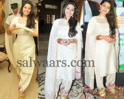 Indian Dresses: Sneha Prasanna Embroidered Salwar
