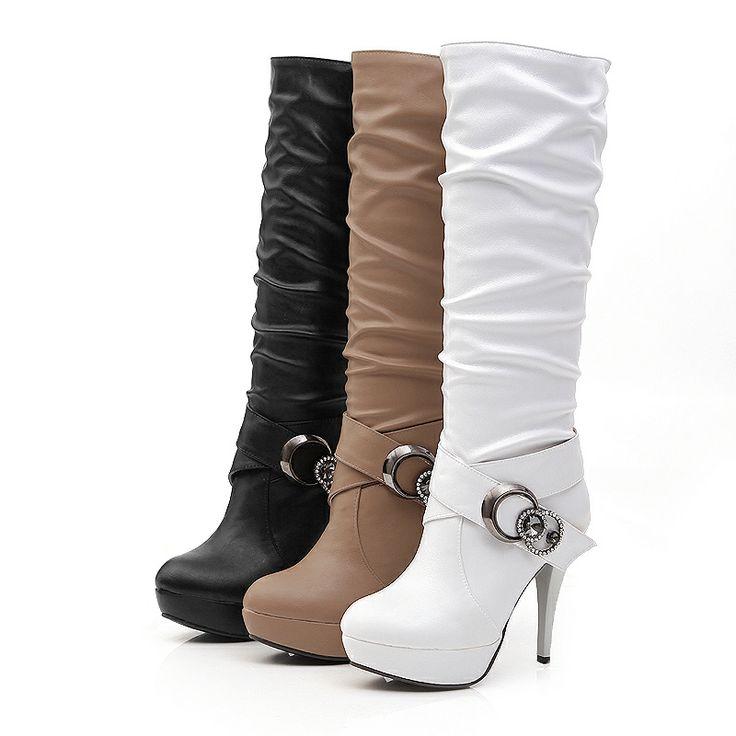 Stiefel Schuhe Damen High Heels Plateau Overknee 6882 Hellbraun 39