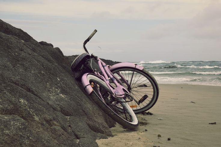 Vintage bike on beach