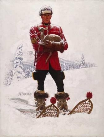 Arnold Friberg Print   Mountie with Fawn