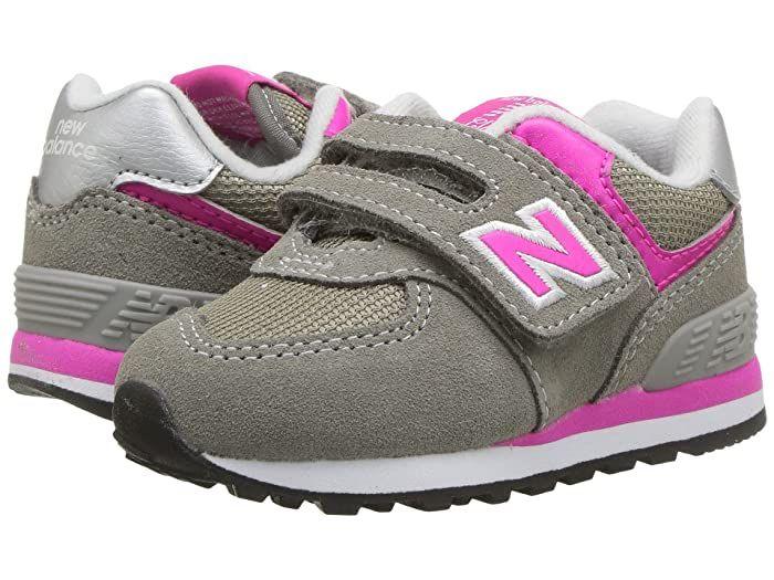 Bibliografía Tierra suicidio  New Balance Kids KX574v1I (Infant/Toddler) (Grey/Pink) Girls Shoes New  Balance Kids rocks the retro with t… in 2020 | Toddler girl shoes, Girls  pink shoes, Girls shoes kids