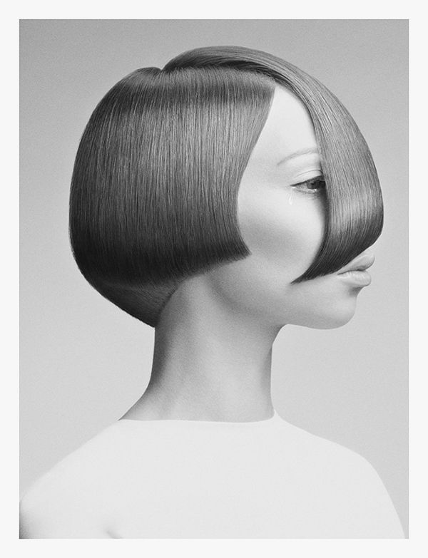 Minimalist Hairstyle Ads - The G+B Beauty Salon Campaign has a Futuristic Vibe (GALLERY)