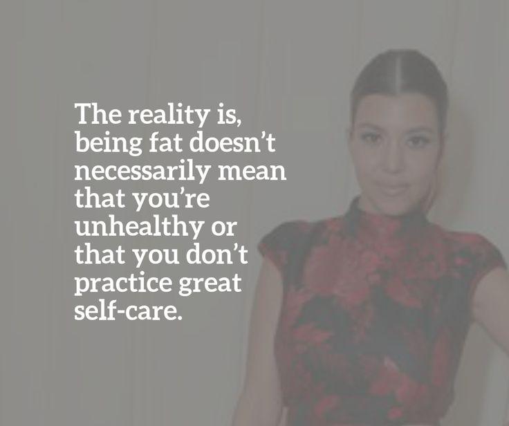 "Kourtney Kardashian's Dismissal of the Word ""Fat"" is a Great Start"