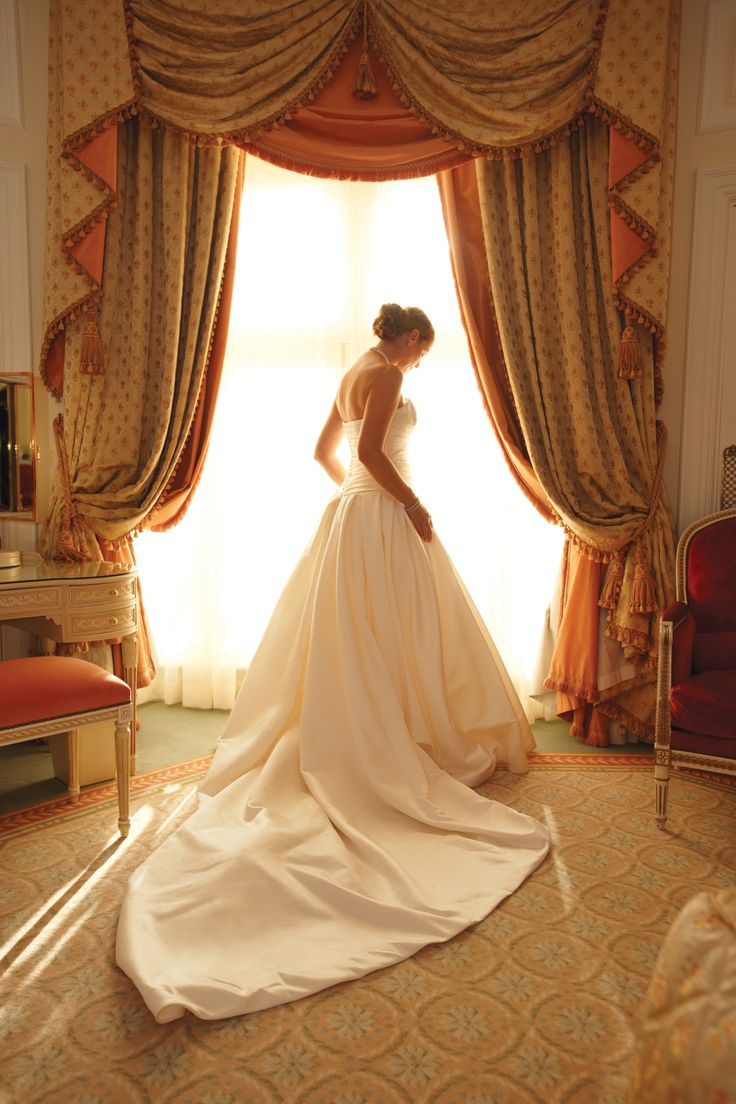 A bride awaiting her fairy tale wedding at