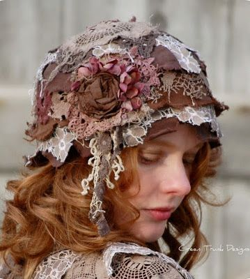 Up-cycled cloche hat