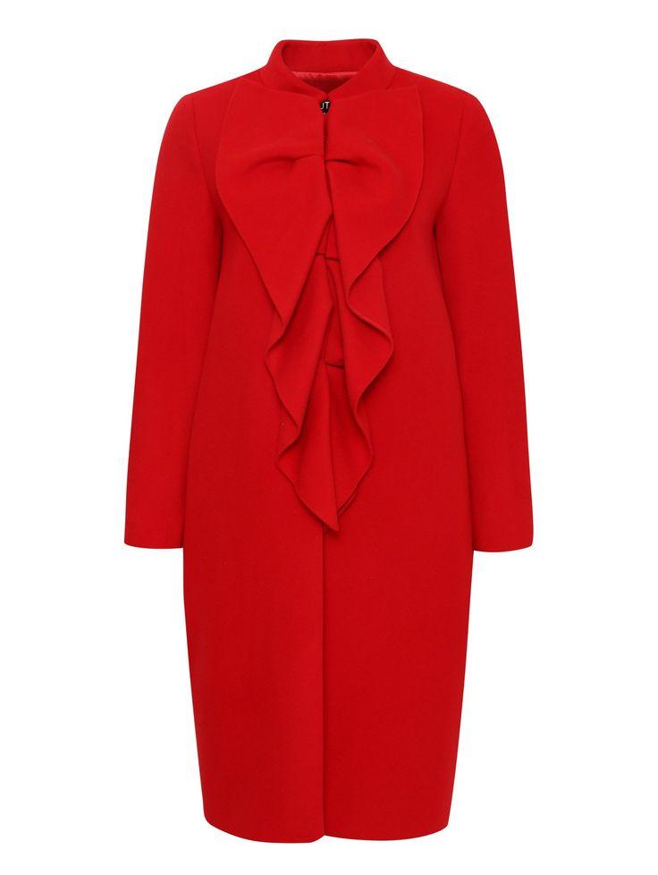 Купить Moschino Boutique красное пальто из шерсти и кашемира с декоративным воротником (195519), цена на пальто в интернет-магазине Bosco.ru – 92 650 руб.