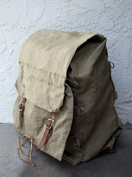 Vintage military backpack.
