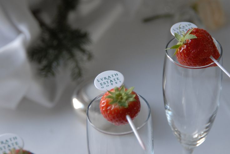 Strawberry Champagne Flutes