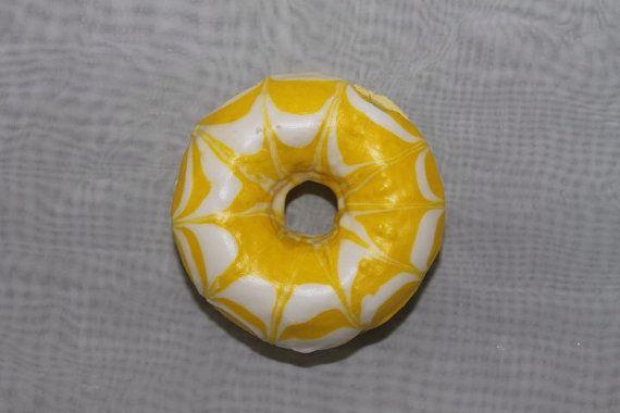 Pinepple Donut Bath Bomb by Neveska on Etsy
