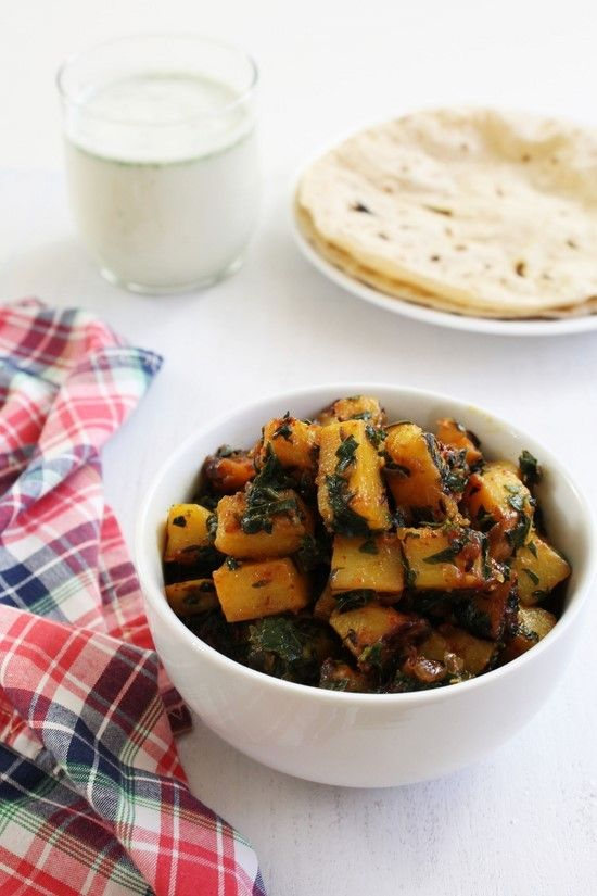 Aloo methi recipe with step by step photos - a dry vegetable side dish goes well with roti or phulka. It is Punjabi style aloo methi recipe