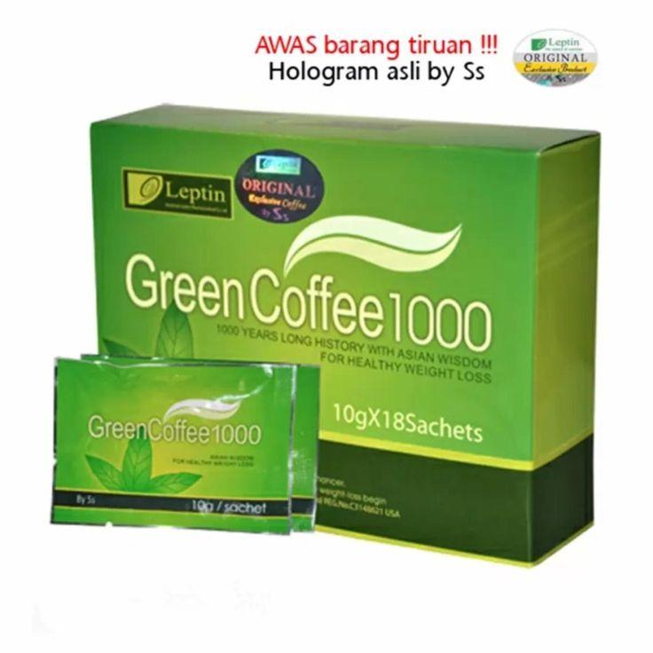 Leptin Green Coffee 1000 Original – Minuman Serbuk Kopi Penahan Nafsu Makan Penurun Berat Badan Pelangsing – @18 Sachet