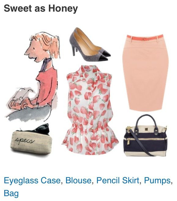 Outfit inspired by Miss Honey (Matilda)