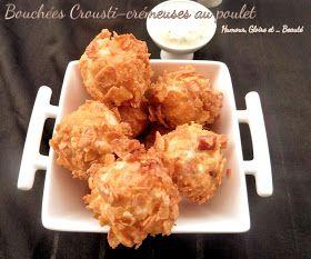 Bouchées croustillantes et crémeuses au poulet