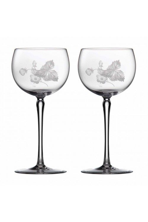 Wild Strawberry wine glasses by Wedgwood designed by Jo Sampson