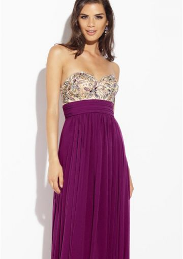 Cheap and Australia Sweetheart Chiffon A-line Crystals Sleeveless Zipper Purple Floor Length Prom / Homecoming Dresses from En.dresses4Australia.com.au