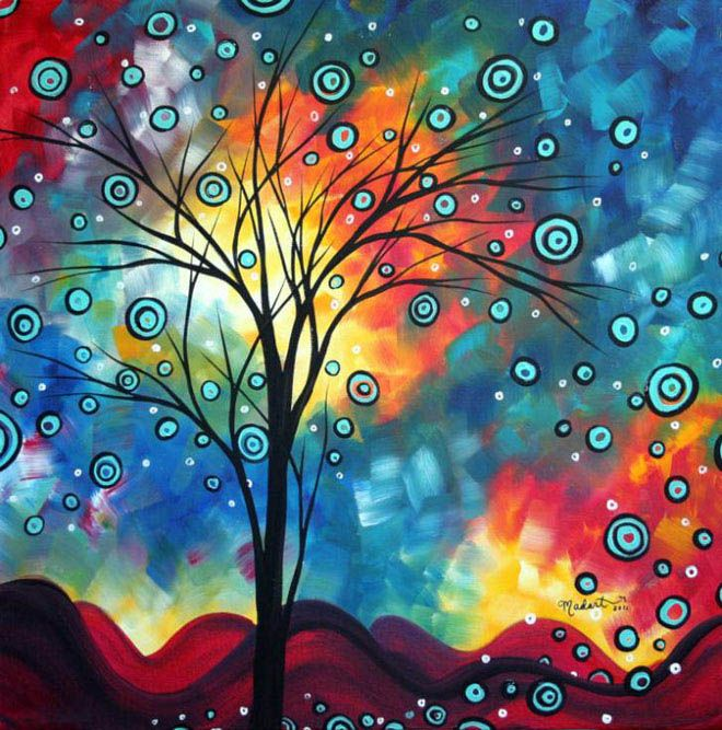 25 Mind blowing Colorful Landscapes by MADART - Ultra Modern Contemporary Art. Follow us www.pinterest.com/webneel