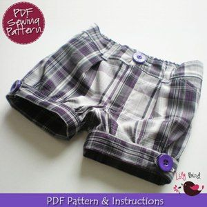 Download Cuffed Shorts - 12M to 8Y Sewing Pattern   Boys Clothing Downloadable Sewing Patterns   YouCanMakeThis.com