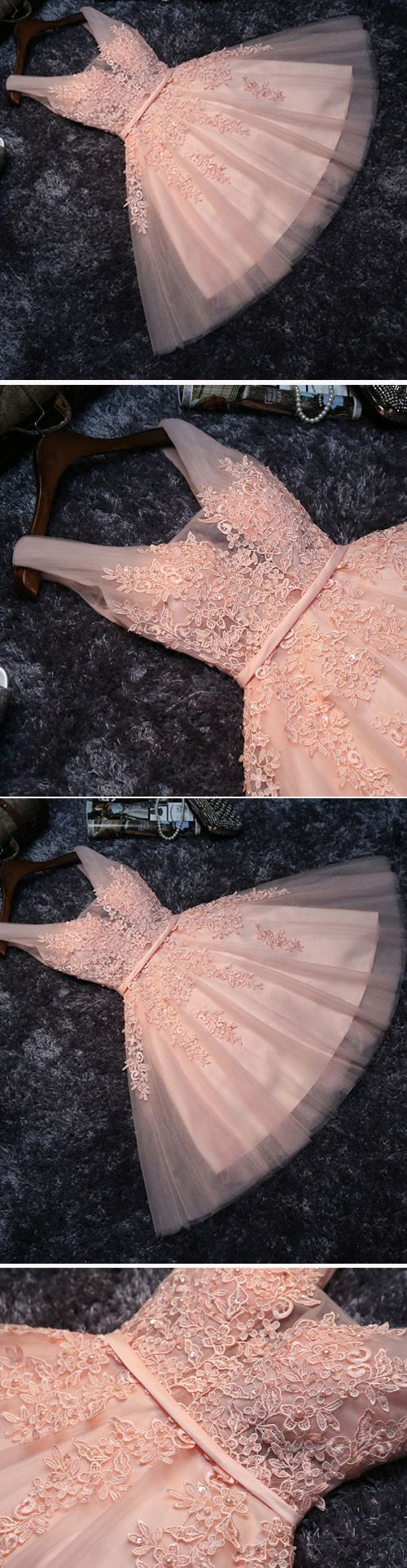 Homecoming Dress Short,Prom Dress Short,Cheap Prom Dresses,Cheap Homecoming Dresses,Cheap Evening Dress,Homecoming Dresses Cheap,Quality Dresses,Party Dress,Fashion Prom Dress,Prom Gowns,Dresses for Girls,Blush Pink Short Bridesmaid Dress,Prom Dress,Lace Appliqued Tulle Homecoming Dress,SH60