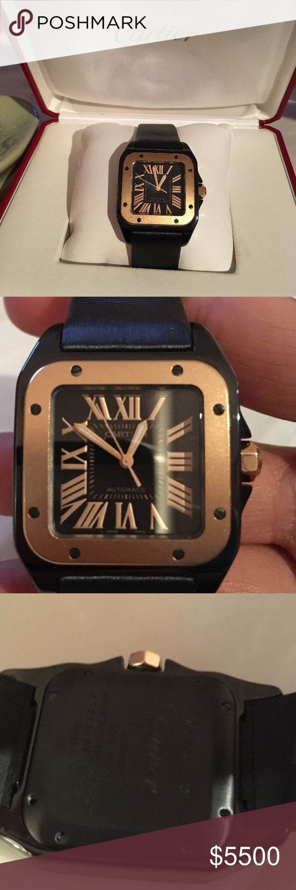 Cartier Watch Gently used 100% authentic Santos 100 Cartier watch. Rose gold face and of course it comes in its original box Cartier Accessories Watches