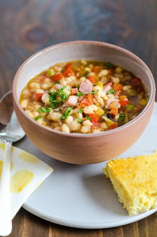 slow cooker recipe cheesy panade with swiss chard beans amp sausage ...