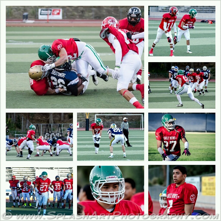 Eagle Rock Players in the 17th annual Daily News East-West all-star football game at College of the Canyons on Jan 20th 2013