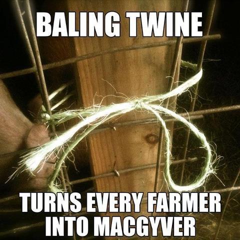 Bailing Twine!  A farmgirls best friend!
