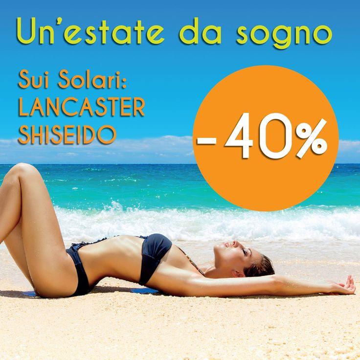 Lancaster e Shiseido al 40% in meno sul nostro www.shopmastriprofumieri.it