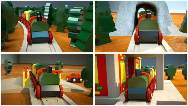 Toy Train on Behance