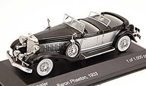 CHRYSLER IMPERIAL LE BARON PHAETON 1933 SILVER/BLACK 1:43 Whitebox Auto d'Epoca
