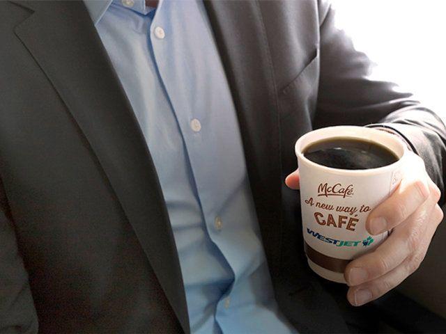 WestJet to start serving McDonald's Coffee