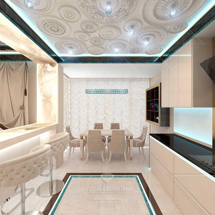 Дизайн гостиной с кухней http://www.line-mg.ru/dizayn-kvartiry-zhk-dolina-setun