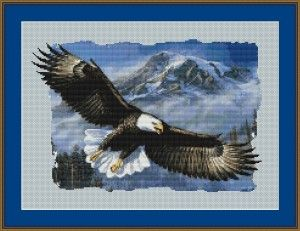 8054 - Soaring Eagle Cross Stitch Pattern