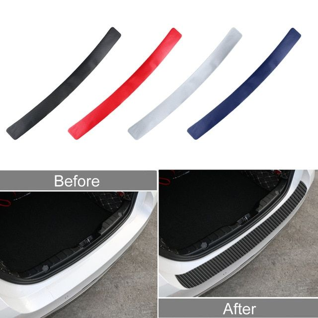 Protective Waterproof Universal Carbon Fiber Rear Bumper Sticker for Car Styling