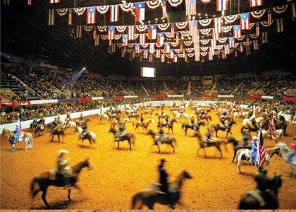 Grand Entry at the Ft. Worth Stock Show and Exposition Rodeo