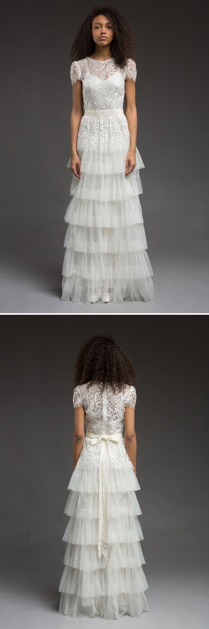 Tulle Tiered Vintage Inspired Wedding Dress || 2017 Wedding Dress from Katya Katya Shehurina