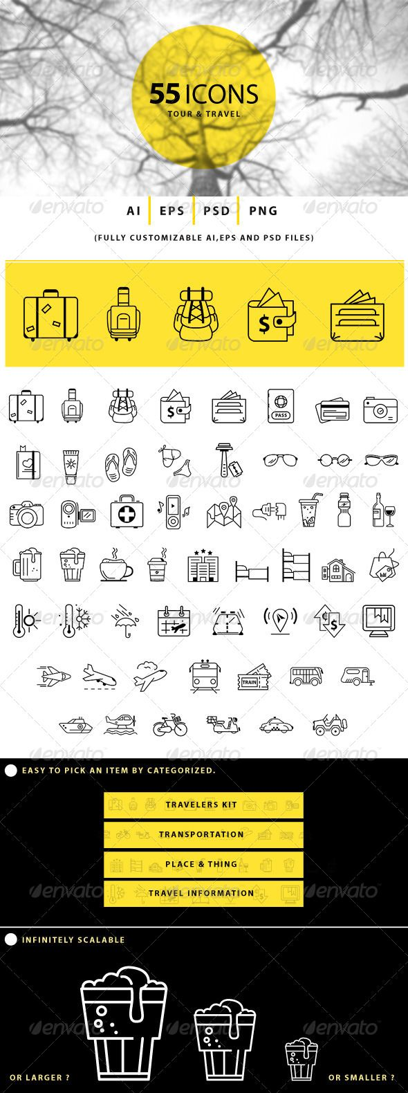 Tour and Travel Icons - Business Icons