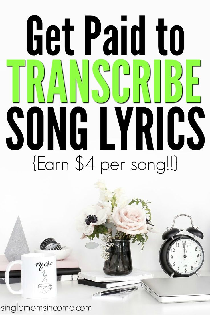 If you like listening to music here's how to get paid to transcribe song lyrics. Choose your favorite genres and earn $4 per song!