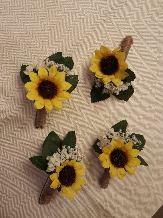 Sunflower Boutonniere by CreatingCraftermath on Etsy