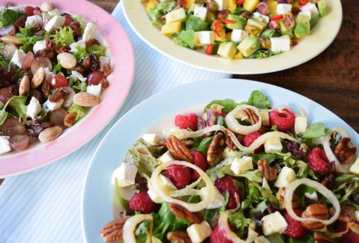 3x salade met fruit