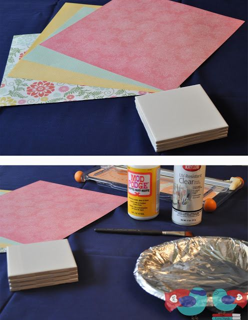 How to Make Coasters with Scrapbook Paper and Mod Podge - The Love Nerds